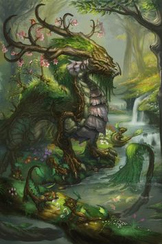 Eternal Spring by =The-SixthLeafClover on deviantART ~ ♥ #dragons #fantasy #art