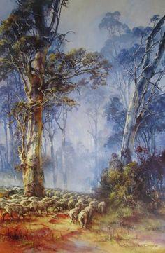 Eureka Art: d'Arcy Doyle Limited Edition Prints Australian Painting, Australian Artists, Classic Paintings, Beautiful Paintings, Landscape Art, Landscape Paintings, Indigenous Art, Aboriginal Art, Tree Art