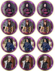 printable topper the descendants - Buscar con Google
