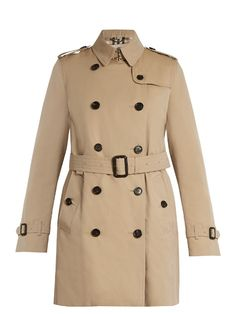 BURBERRY Kensington Mid-Length Gabardine Trench Coat. #burberry #cloth #coat