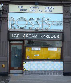 Rossi's Ice Cream Parlour, Weymouth. The best ice cream, like ever!