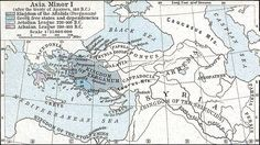 The Kingdom of Pergamon (colored olive) shown at its greatest extent in 188 BCE.