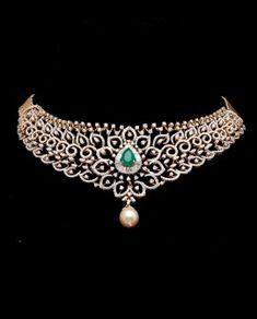 Necklaces – Page 3 – Modern Jewelry Diamond Necklace Set, Diamond Jewelry, Emerald Diamond, Stone Necklace, Gold Jewellery, Wedding Jewellery Designs, Gold Earrings Designs, Necklace Designs, Stylish Jewelry