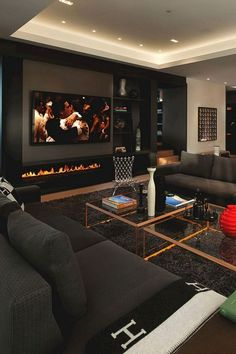 APPEALING 70 EUROPEAN LIVING ROOM DESIGN AND DECOR IDEAS different living room ideas you will certainly be motivated to make subtle upgrades to your very own area or discover dynamic contemporary living room decoration ideas that will charm visitors. Elegant Living Room, Living Room Modern, Small Living, Luxury Living Rooms, Contemporary Living Room Decor Ideas, Design Of Living Room, Black Living Rooms, Modern Decor, Black Room Design