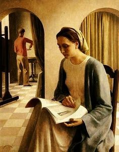 A Woman Reading (1938), by Louis Buisseret (Belgian, 1888-1956)