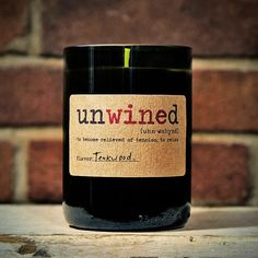 Teakwood Unwined Wine Bottle Candle Wine Bottle Candles, Bottles And Jars, Glass Bottles, Bottle Slumping, Candle Lanterns, Cute Gifts, Fused Glass, Projects To Try, Diy Crafts