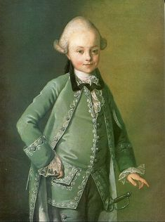 Portrait of a young boy in fashionable dress circ 1770 by Carl-Ludwig Christinek (1731-1792)