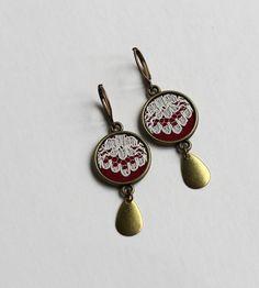 rev lace earrings