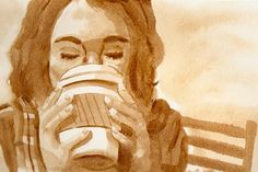 Not Just For Drinking: Coffee Painting Workshop :: Sosh :: Chicago