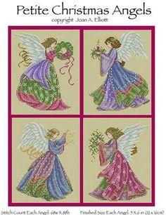 Petite Christmas Angels - Cross Stitch Pattern