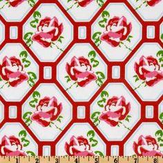 Sugar Hill Rose Trellis Red