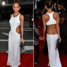 Nicole Richie in a white silk Spring 2014 Emilio Pucci gown @ the AMA's 2013
