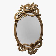 mirror carved old 3d model