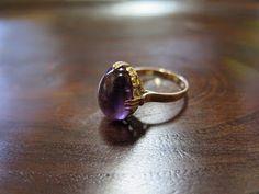 千本透かし blog / CLASSICS HAKOZAKI / 昭和ジュエリー: 510:デッドストック 千本透かし(キャスト) K18 アメジスト リング #11 Heart Ring, Gold Rings, Amethyst, Xmas, Crystals, Flower, Antiques, My Style, Jewelry