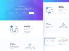 587 отметок «Нравится», 4 комментариев — UI/ UX DESIGN INSPIRATION (@uidesignpatterns) в Instagram: «Home Loan Landing Page Concept 04 by Masudur Rahman  . Tag a designer you want us to feature next…»