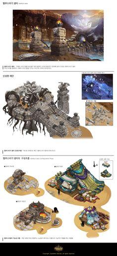 ArtStation - DUNGEON STRIKER - Environment Concept art, Hong SoonSang