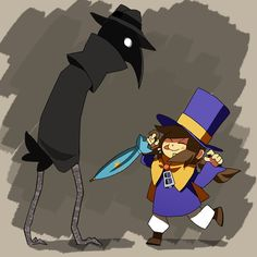 Hey I'm Kitty, she/they, and good golly AHIT is a jolly good show. I track the snatchersnatched tag now! Home of Family AU and overanalyzing lore A Hat In Time, Turn Blue, Time Art, Headgear, Best Dad, Video Games, Creatures, Sketches, Kitty