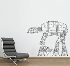 Star Wars AT-AT Walker vinyl wall decal WD-0306. $32.99, via Etsy.