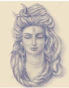 Shiv Mahadev Mahakal Shiva, Shiva Statue, Shiva Art, Hindu Art, Indian Gods, Indian Art, Lord Shiva Sketch, Shiva Tattoo Design, Lord Shiva Painting
