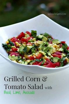 Grilled Corn and Tomato Salad with Avocado