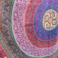 Multi Color Floral Mandala Wall Hanging