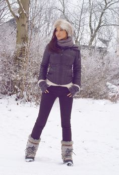 Russian Girl  , New Look in Hats, Guess in Jackets, Tommy Hilfiger in Boots, Topshop in Sweaters