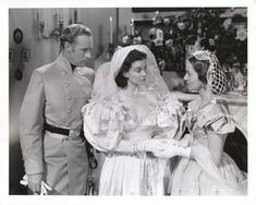 "Scarlett O'Hara Wedding Dress | ... With The Wind"" showing Vivien Leigh wearing the Wedding Dress Veil"