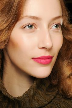 """could open: """"The idea with the color,"""" she said, motioning to the MAC Chromagraphic Pencil in Process Magenta that Kaliardos was blending with its Lip Conditioner for a semimatte finish, """"is whatever you're doing, close the deal."""""""