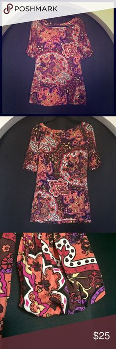 """✨🆕R&J Couture Boho Tonic EUC. Unlined. 34"""" long. Could be worn as a mini dress. Dry clean only. Romeo & Juliet Couture Tops Tunics"""
