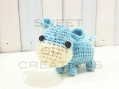 Crochet Hippo from Sweet and Cute Creations.