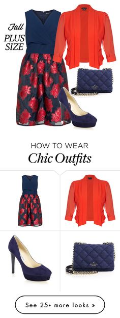 """""""red & navy"""" by freshdee on Polyvore featuring Manon Baptiste, City Chic, Jimmy Choo and Kate Spade"""