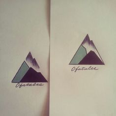 Geometric Mountain Tattoo - OFatalee