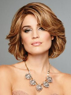 Raquel Welch Wigs - Art of Chic - Remy Human Hair Medium Hair Cuts, Short Hair Cuts, Medium Hair Styles, Curly Hair Styles, Short Hair With Layers, Layered Hair, Remy Human Hair, Human Hair Wigs, Short Bob Hairstyles