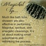 Magickal Cleansings for the Shower