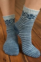 Puschkinia Knitting pattern by Kirsten Kapur Arm Knitting, Knitting Socks, Knit Socks, Christmas Knitting Patterns, Knit Patterns, Lots Of Socks, Matching Socks, Yarn Brands, Red Heart Yarn