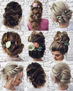 Tonya Pushkareva Long Wedding Hairstyle for Bridal via tonyastylist / http://www.himisspuff.com/long-wedding-hairstyle-ideas-from-tonya-pushkareva/22/