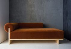 Stunning chaise longue from Syrette Lew. I always love a mohair!