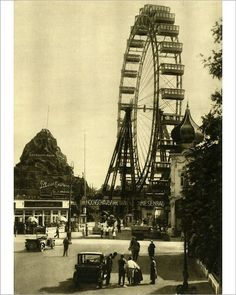 Photograph-The Wiener Riesenrad, Vienna, Austria, Creator: Photo Print expertly made in the USA Framed Prints, Poster Prints, Canvas Prints, The Third Man, Roller Coaster, Gloss Matte, Heritage Image, Vienna, Ferris Wheel
