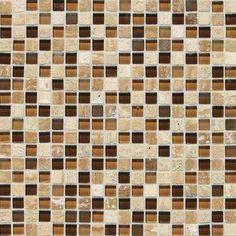 Blacksplash colors with New Venetian Gold Granite countertops. Love it! DalTile's SA58 Mosaic Backsplash