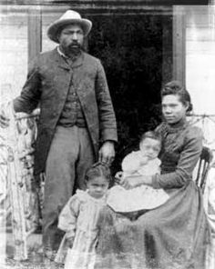 An ex-slave from Texas, John Ware (and his wife and children) followed the expansion of the cattle ranching industry westward until in 1882.