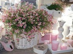 ♥ roze, wit & natuurlijk tinten, wat een landelijk romantisch plaatje ♥