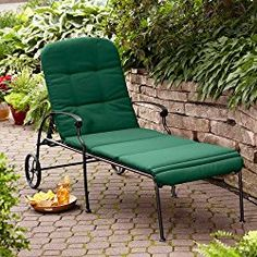 Better Homes and Gardens Clayton Court Chaise Lounge with Wheels, Green