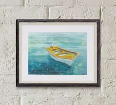 Original Painting Greece Boat by OffRiverRoad on Etsy
