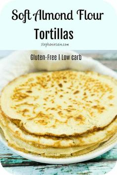These Almond Flour Tortillas are super soft pliable wraps great for tacos, burritos, sandwich wraps and so much more. Even great just plain. Almond Flour Tortilla Recipe, Recipes With Flour Tortillas, Gluten Free Tortillas, Almond Flour Recipes, Low Carb Tortillas, Gluten Free Pita Bread, Almond Flour Baking, Corn Flour Recipes, Corn Tortilla Recipes