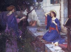 John William Waterhouse: The Annunciation - 1914    I like this adaptation of the story more than the medieval-style artworks