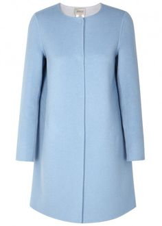 Light blue wool blend coat