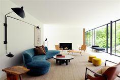 13 Rooms Rocking the Curved Furniture Trend Living Room Decor, Living Spaces, Interior Architecture, Interior Design, Curved Sofa, Elle Decor, Contemporary Interior, Cheap Home Decor, Homemade Home Decor
