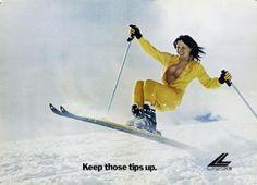 Keep those Ski Tips Up!  Lange Girl circa 70's