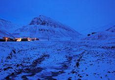 Polar night - Characteristic polar night blue twilight, Longyearbyen, Svalbard, Norway located at north. 30 Days Of Night, Svalbard Norway, Longyearbyen, Polar Night, The Sun Also Rises, Twilight Pictures, Midnight Sun, Sky And Clouds, Beautiful World