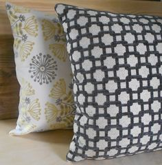 Grey cut velvet geometric lattice decorative by pillowflightpdx, $38.00